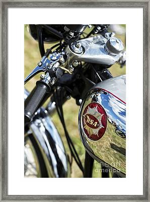 Bsa Rocket Gold Star Motorcycle Framed Print