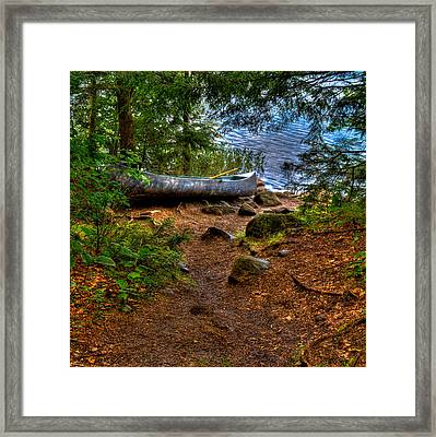 Bubb Lake Canoe Framed Print by David Patterson