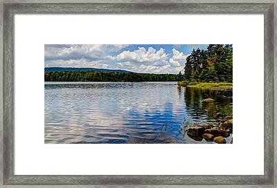 Bubb Lake In The Summer Framed Print