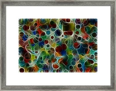 Bubble Alteration Framed Print