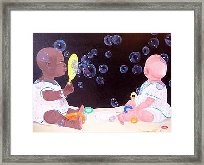 Bubble Babbies  Framed Print