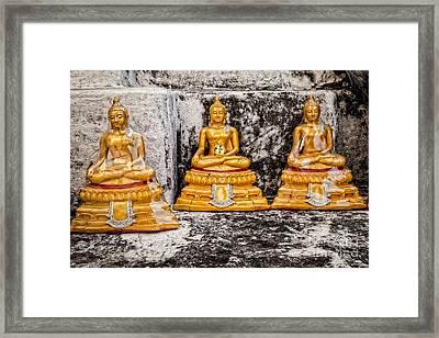 Bubble Buddhas Framed Print by Dean Harte