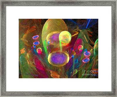 Bubble Circus Framed Print by Dee Flouton