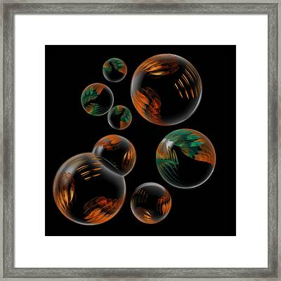 Framed Print featuring the digital art Bubble Farm Fractal by Kathleen Holley