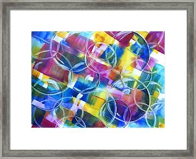 Bubble Fun Framed Print