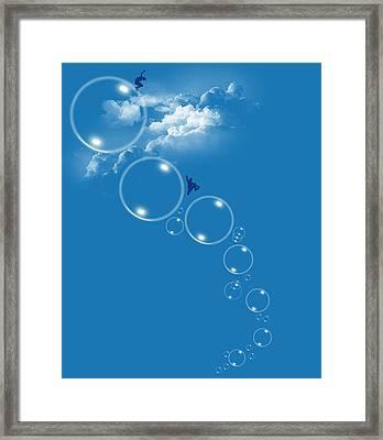 Bubble Gamers Framed Print by Neelanjana  Bandyopadhyay