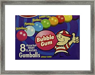 Bubble Gum Framed Print by Frozen in Time Fine Art Photography