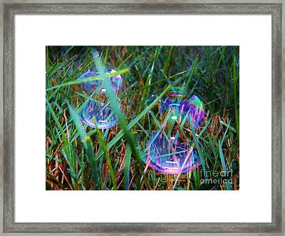 Bubble Illusions 1 Framed Print by Judy Via-Wolff