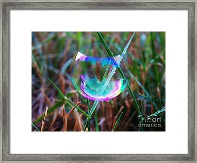 Bubble Illusions 4 Framed Print by Judy Via-Wolff