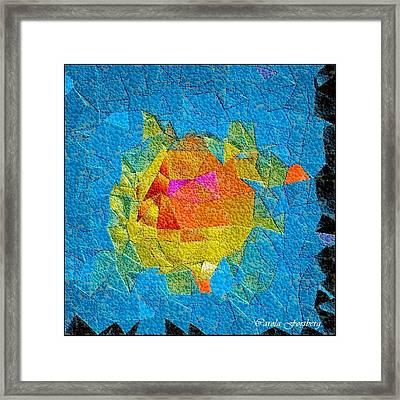 Bubble Kubism Framed Print by Carola Ann-Margret Forsberg