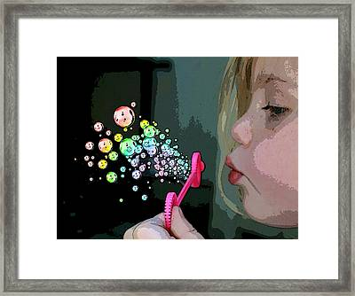 Bubble Magic Framed Print by Ellen Henneke