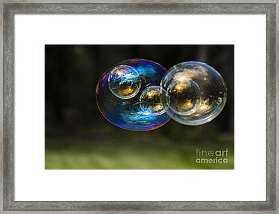Bubble Perspective Framed Print by Darcy Michaelchuk