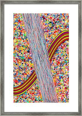 Bubble Rainbow Framed Print by Patrick OLeary