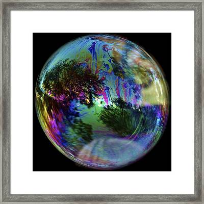 Bubble Reflection Framed Print