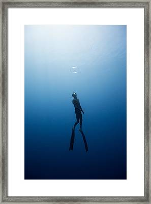 Bubble Ring Framed Print by One ocean One breath