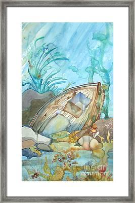 Bubble Ship Wreck Framed Print by Maya Simonson