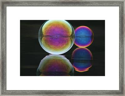 Bubble Spectacular Framed Print by Cathie Douglas