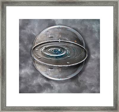 Bubble Sphere Framed Print