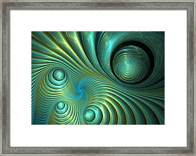 Bubble Spiral Framed Print by Martin Capek