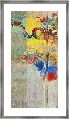 Bubble Tree - 43ff04 Right Framed Print by Variance Collections