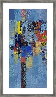 Bubble Tree - 7376106r Framed Print by Variance Collections