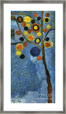 Bubble Tree - 8586v03l Framed Print by Variance Collections