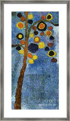 Bubble Tree - 8586v03r Framed Print by Variance Collections
