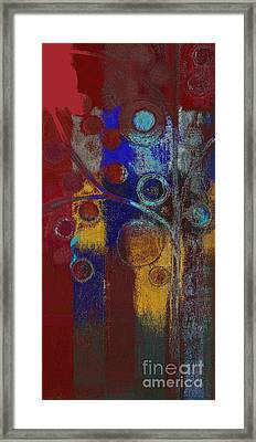 Bubble Tree - Rd01l Framed Print by Variance Collections