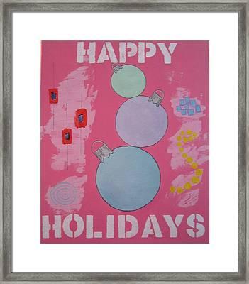 Bubblegum Christmas Framed Print