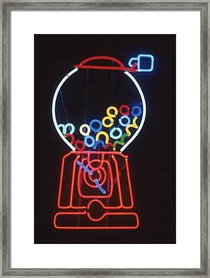 Bubblegum Machine Framed Print by Pacifico Palumbo
