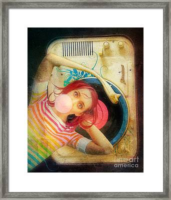 Bubblegum Pop Framed Print by Aimee Stewart