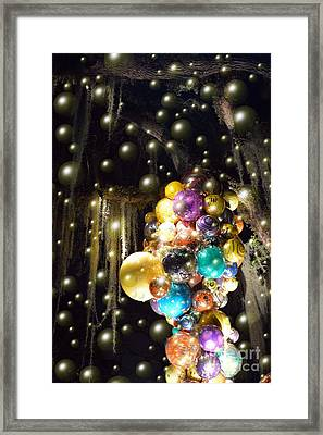 Bubbles And Balloons Framed Print by Edna Weber