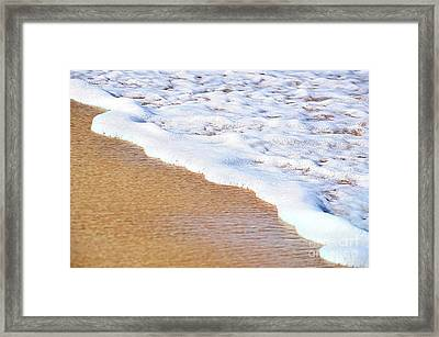 Bubbles And Lace Framed Print by Kaye Menner