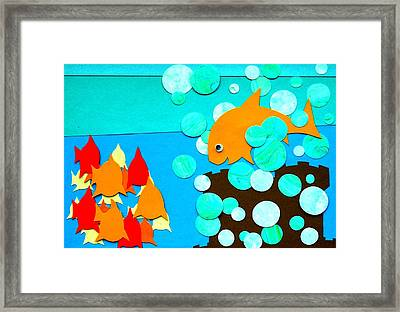 Bubbles Framed Print by David Pegher