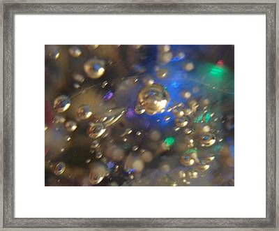 Bubbles Glass With Light Framed Print