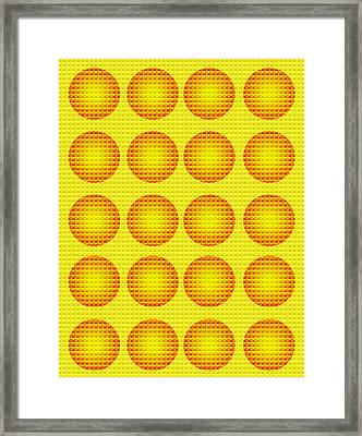 Bubbles Honeycomb Warhol  By Robert R Framed Print by Robert R Splashy Art Abstract Paintings