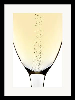 Champagne Glasses Photographs Framed Prints