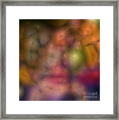 Bubbles In Pastel Framed Print