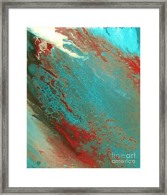 Bubbles In The Ocean Framed Print by Bozena Simeth