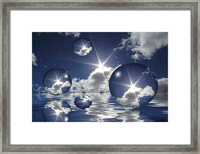 Bubbles In The Sun Framed Print by Shane Bechler