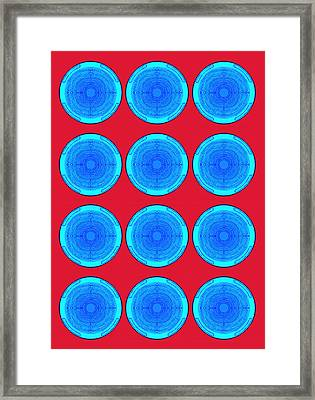 Bubbles Minty Blue Poster Framed Print by Robert R Splashy Art Abstract Paintings