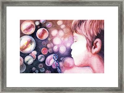 Bubbles Framed Print by Natasha Denger