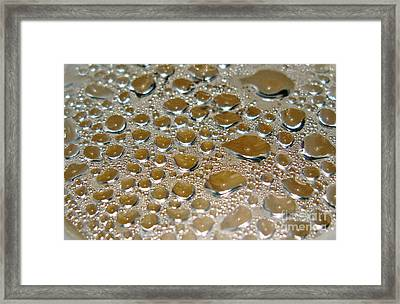 Bubbles Of Steam Metal Framed Print