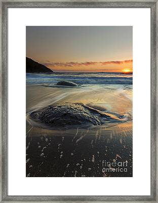 Bubbles On The Sand Framed Print by Mike  Dawson