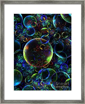 Bubbles Orgy 2 Framed Print