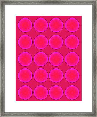 Bubbles Pink Peppemint Warhol  By Robert R Framed Print