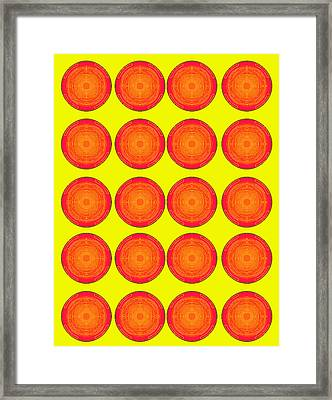 Bubbles Sunny Oranges Warhol  By Robert R Framed Print