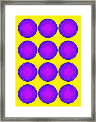 Bubbles Sunny Purple Blue Warhol  By Robert R Framed Print