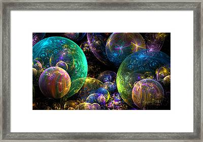 Bubbles Upon Bubbles Framed Print by Peggi Wolfe