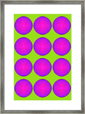 Bubbles Lime Purple Poster Framed Print by Robert R Splashy Art Abstract Paintings